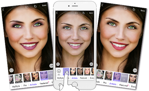 Perfect365 lets you experiment with the hottest styles and newest trends. Try on natural, sweet or dramatic looks.