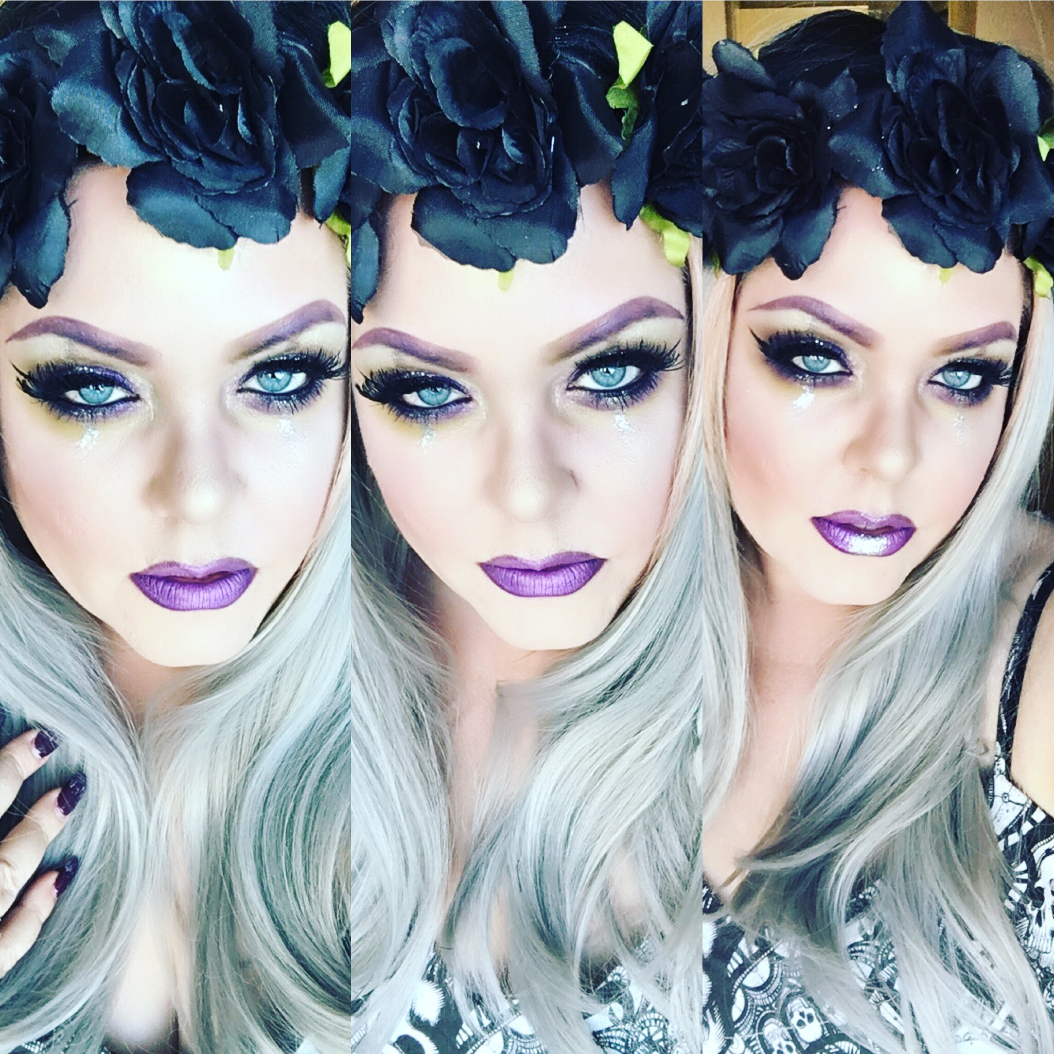 Krista McAulay Purple Makeup