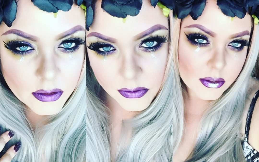 Purple makeup–it's the color we love for fall beauty
