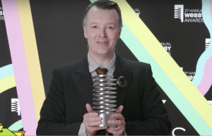 Kabuki Starshine accepting the Perfect365 Webby Award