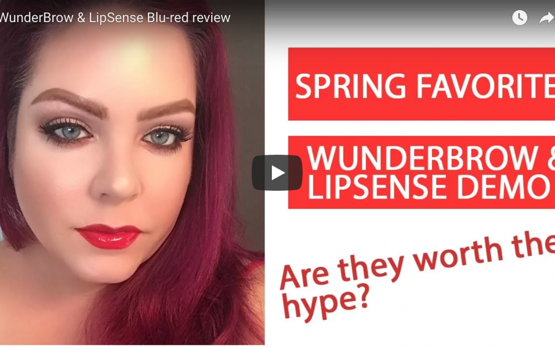 LipSense review of Blu-Red long-wear lipstick with gloss