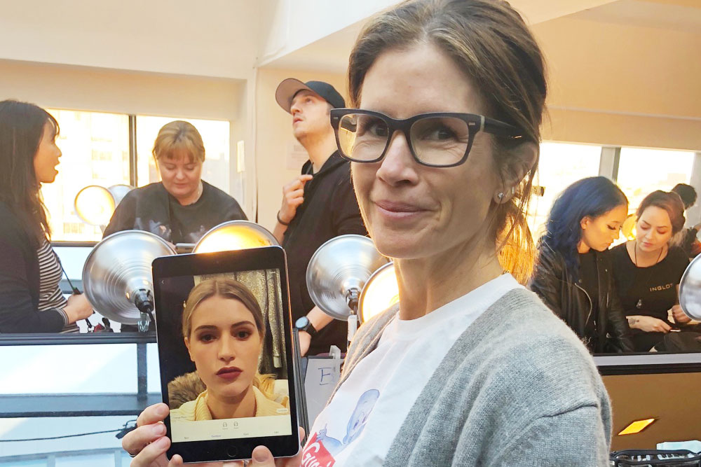 Celebrity Makeup Artist Gucci Westman Uses Perfect365 PRO for Badgley Mischka NYFW F/W '18 Show