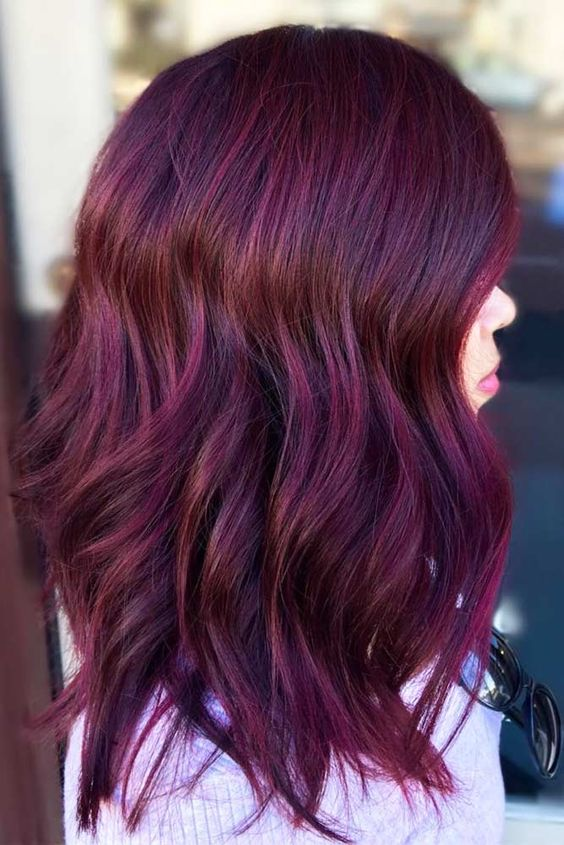 Mulberry Toned Hair Color