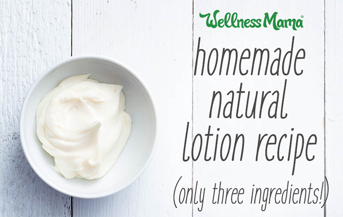 Homemade natural lotion recipe