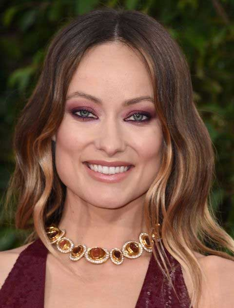 Olivia Wilde wearing monochromatic makeup