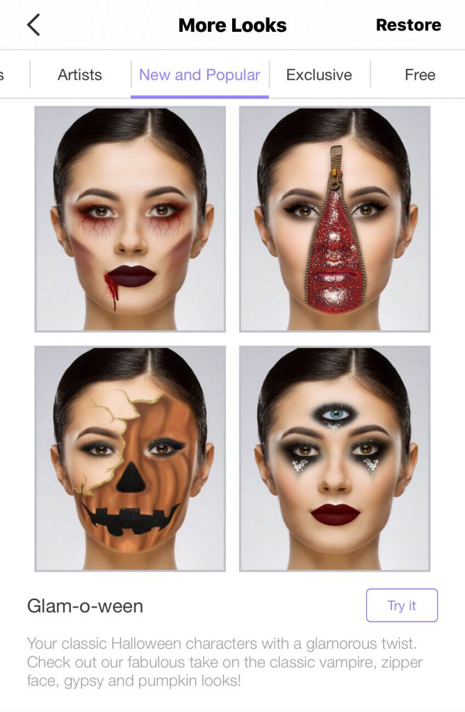 Glam-o-ween Halloween Makeup Looks