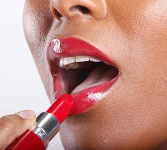 Tangerine Skintone red lipstick