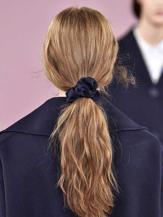 Scrunchie ponytail