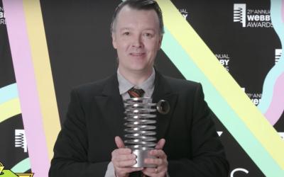 Kabuki Starshine accepting the Perfect365 Webby Award
