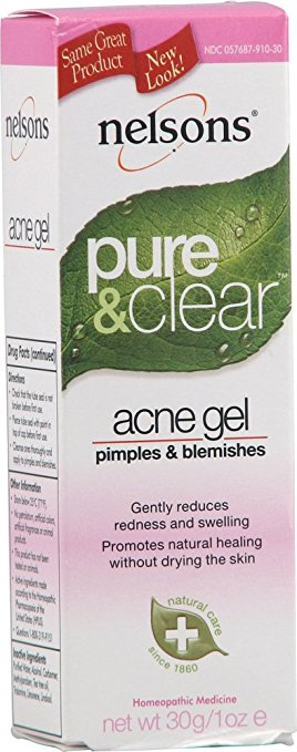 Fight acne with Nelsons Pure and Clear Acne Gel
