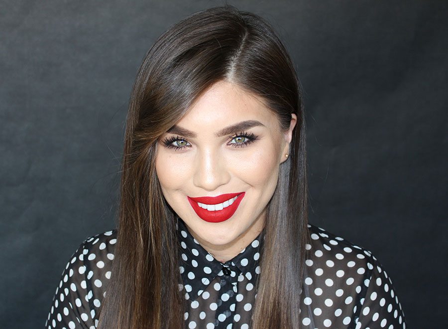 Beauty Tutorial: Classic bronze eyes and red lips